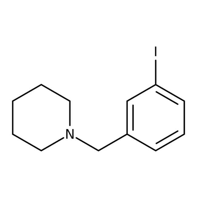 1-(3-Iodobenzyl)piperidine, ≥97%, Maybridge™ Amber Glass Bottle; 250mg 1-(3-Iodobenzyl)piperidine, ≥97%, Maybridge™