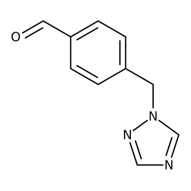 4-(1H-1,2,4-Triazol-1-ylmethyl)benzaldehyde 97+%, Maybridge Amber Glass Bottle; 250mg 4-(1H-1,2,4-Triazol-1-ylmethyl)benzaldehyde 97+%, Maybridge