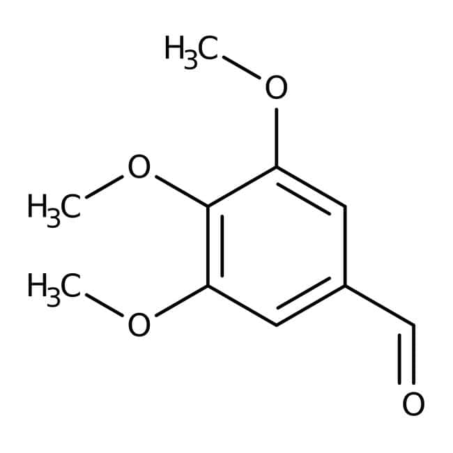 Alfa Aesar™ 3,4,5-Trimethoxybenzaldehyde, 98% 500g Alfa Aesar™ 3,4,5-Trimethoxybenzaldehyde, 98%