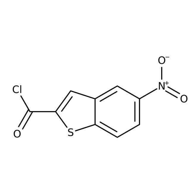 5-Nitro-1-benzothiophene-2-carbonyl chloride, 97%, Maybridge™ Amber Glass Bottle; 10g 5-Nitro-1-benzothiophene-2-carbonyl chloride, 97%, Maybridge™