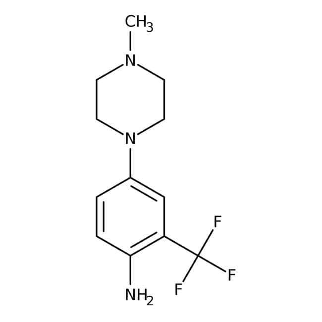 Alfa Aesar™ 4-(4-Methyl-1-piperazinyl)-2-(trifluoromethyl)aniline, 97% 5g Alfa Aesar™ 4-(4-Methyl-1-piperazinyl)-2-(trifluoromethyl)aniline, 97%