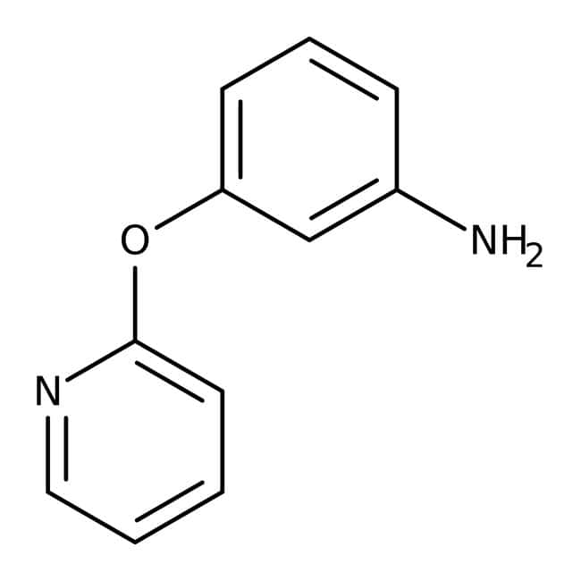 3-(Pyridin-2-yloxy)aniline, 97%, Maybridge™ Amber Glass Bottle; 1g 3-(Pyridin-2-yloxy)aniline, 97%, Maybridge™