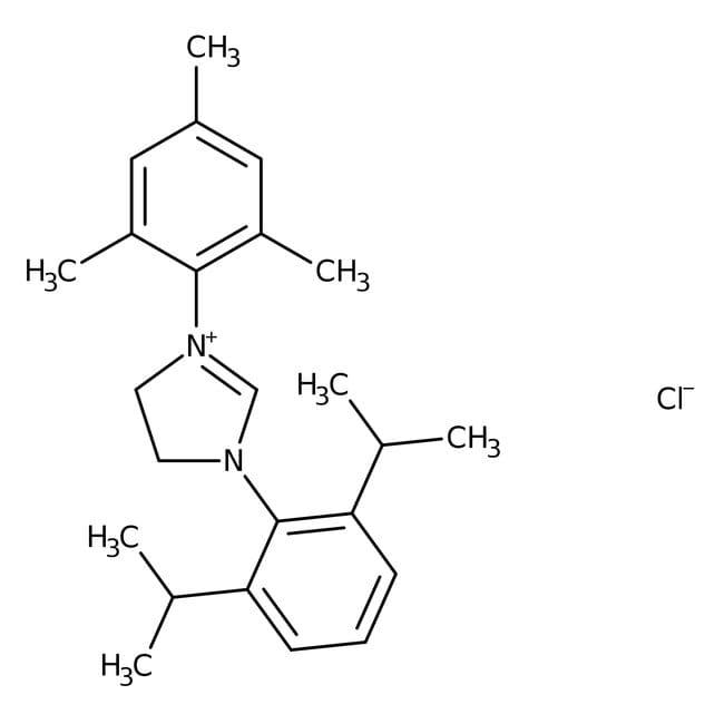 1-(2,6-Diisopropylphenyl)-3-(2,4,6-trimethylphenyl)-4,5-dihydroimidazolium chloride, 97%, ACROS Organics™