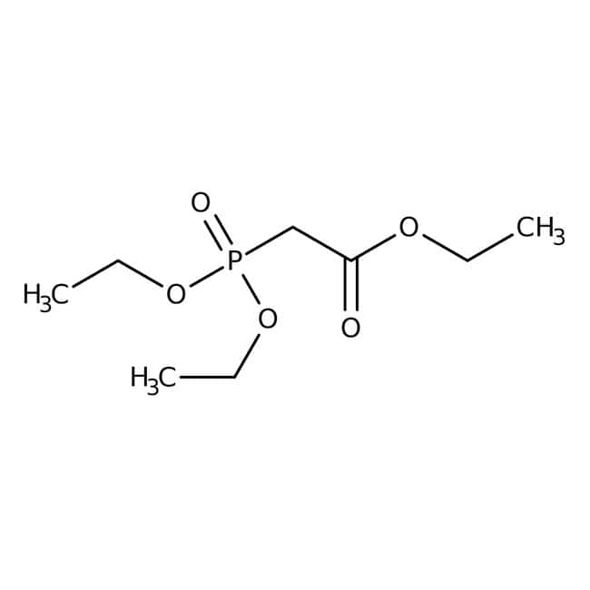 Triethyl phosphonoacetate, 97%, ACROS Organics™ 2.5Kg; Glass bottle Triethyl phosphonoacetate, 97%, ACROS Organics™