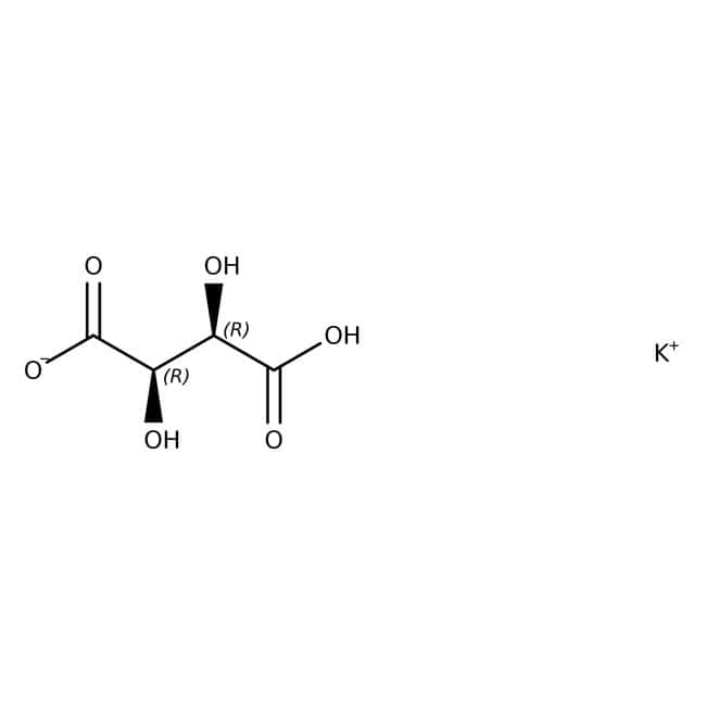L(+)-Potassium hydrogen tartrate, 99%, ACROS Organics™ 1kg; Plastic bottle L(+)-Potassium hydrogen tartrate, 99%, ACROS Organics™