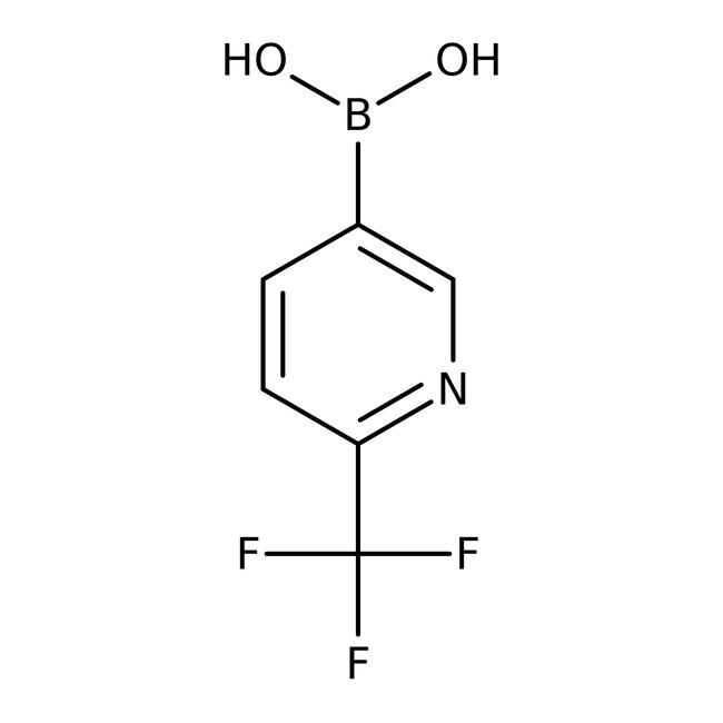 Alfa Aesar™2-(Trifluormethyl)pyridin-5-Boronsäure, 98% 250mg Alfa Aesar™2-(Trifluormethyl)pyridin-5-Boronsäure, 98%