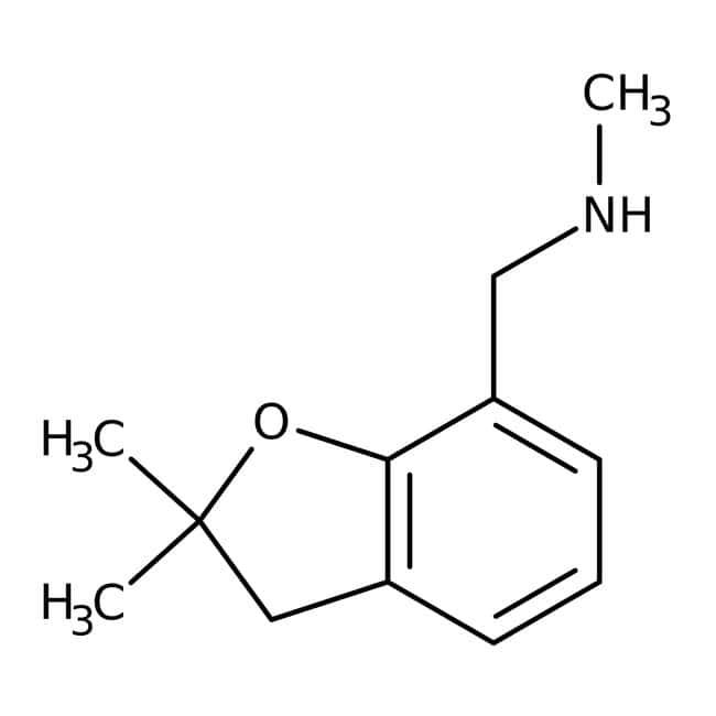 N-[(2,2-Dimethyl-2,3-dihydro-1-benzofuran-7-yl)methyl]-N-methylamine, ≥95%, Maybridge™ Amber Glass Bottle; 250mg N-[(2,2-Dimethyl-2,3-dihydro-1-benzofuran-7-yl)methyl]-N-methylamine, ≥95%, Maybridge™