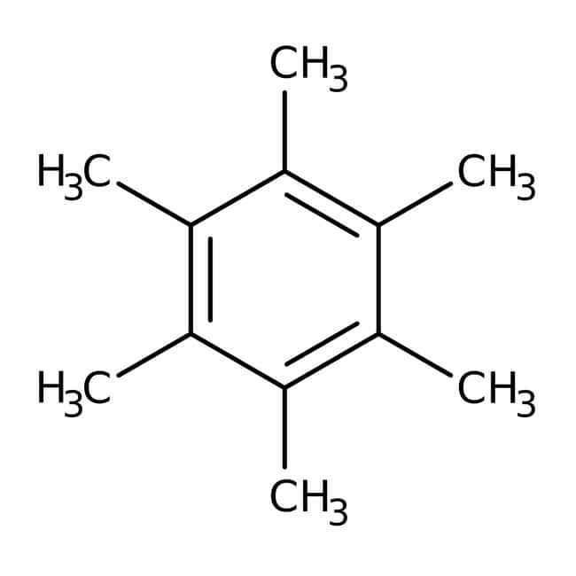Hexamethylbenzene, 98+%, ACROS Organics™ 25g; Glass bottle Hexamethylbenzene, 98+%, ACROS Organics™