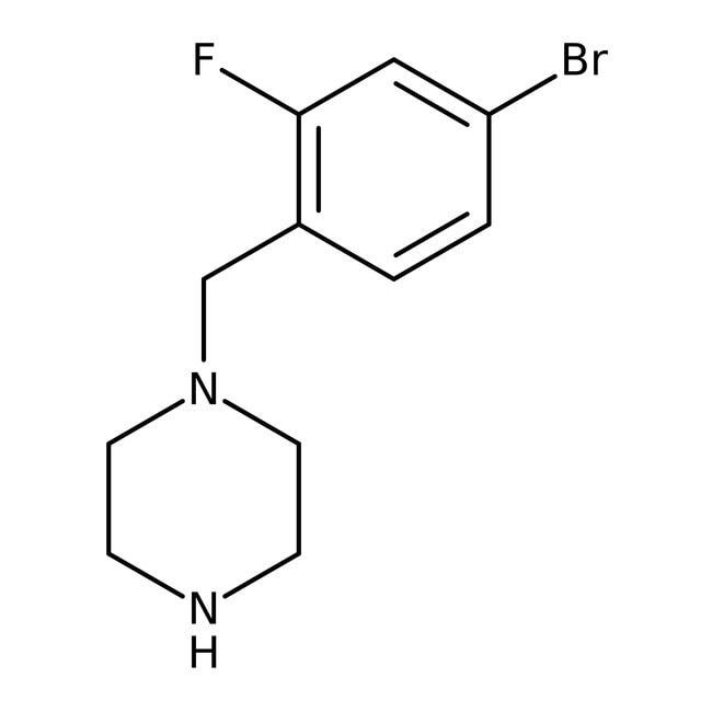 Alfa Aesar™1-(4-Bromo-2-fluorobenzyl)piperazine, 96%