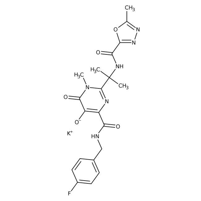 Raltegravir potassium salt, ACROS Organics™ 250mg Raltegravir potassium salt, ACROS Organics™