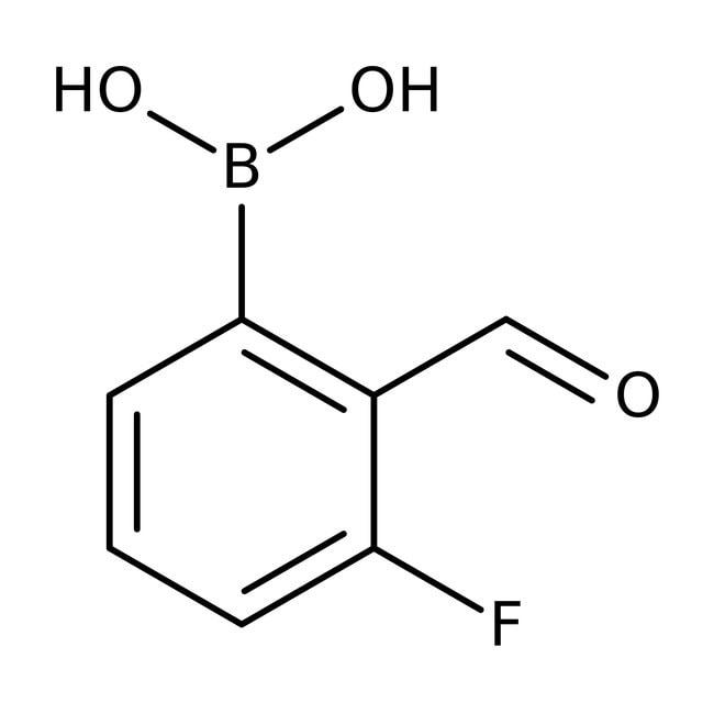 Alfa Aesar™3-Fluor-2-formylbenzenboronsäure, 95% 1g Alfa Aesar™3-Fluor-2-formylbenzenboronsäure, 95%