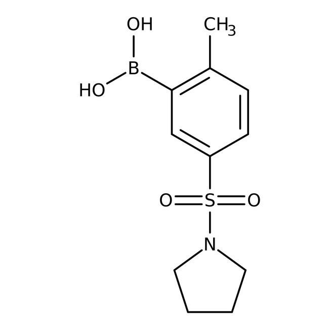 Alfa Aesar™2-Methyl-5-(-1-pyrrolidinylsulfonyl)benzeneboronic acid, 98% 250mg Alfa Aesar™2-Methyl-5-(-1-pyrrolidinylsulfonyl)benzeneboronic acid, 98%