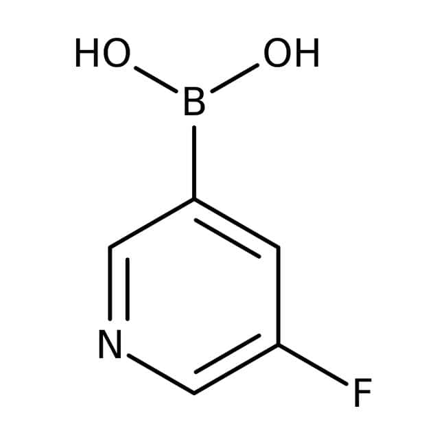 5-Fluoropyridin-3-Boronsäure, 97 %, ACROS Organics ™ 1 g-Glasflasche 5-Fluoropyridin-3-Boronsäure, 97 %, ACROS Organics ™