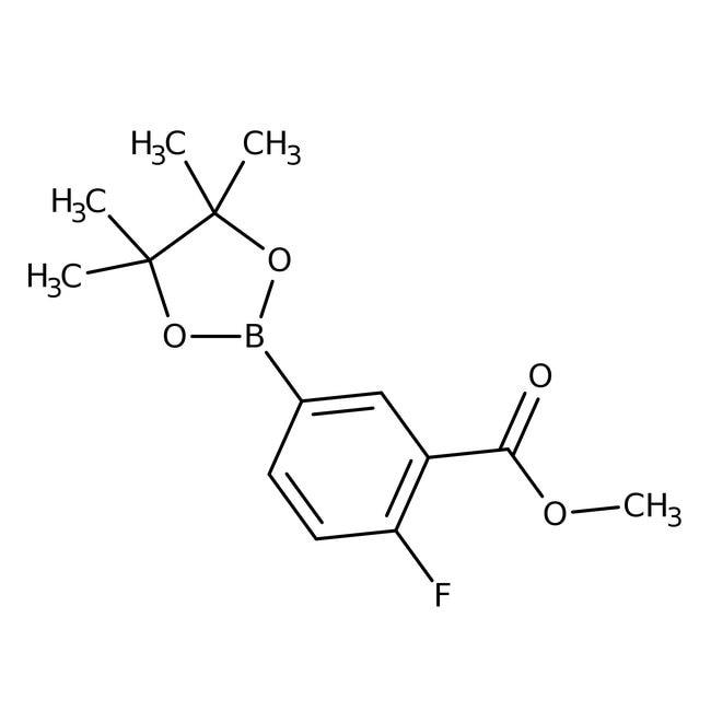 Alfa Aesar™4-Fluoro-3-(methoxycarbonyl)benzeneboronic acid pinacol ester, 96% 250mg Alfa Aesar™4-Fluoro-3-(methoxycarbonyl)benzeneboronic acid pinacol ester, 96%