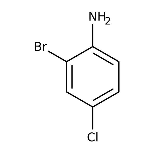 2-Bromo-4-chloroaniline, 98%, ACROS Organics™: Aniline and substituted anilines Benzene and substituted derivatives