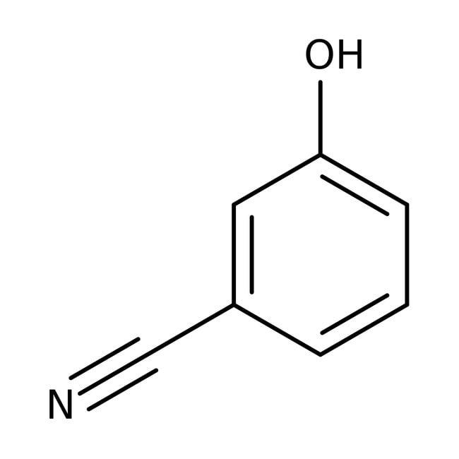 3-Cyanophenol, 97%, ACROS Organics™ 50g; Glass bottle 3-Cyanophenol, 97%, ACROS Organics™