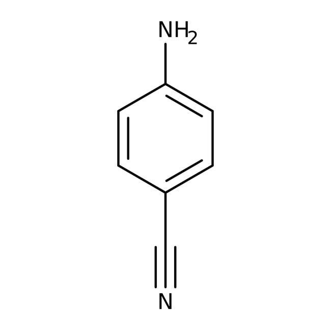 4-Aminobenzonitrile, 98%, ACROS Organics™ 250g; Glass bottle 4-Aminobenzonitrile, 98%, ACROS Organics™