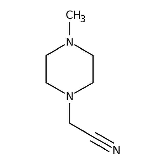 Alfa Aesar™4-Methyl-1-piperazineacetonitrile, 97% 1g Alfa Aesar™4-Methyl-1-piperazineacetonitrile, 97%