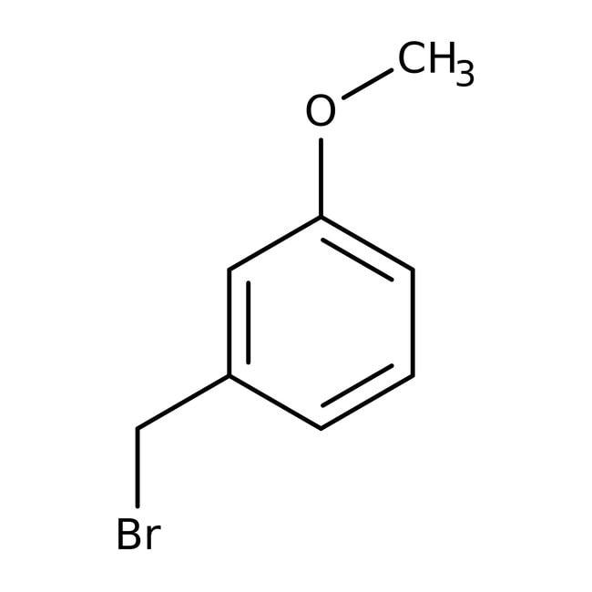 3-Methoxybenzyl bromide, 98+%, ACROS Organics™ 5g; Glass bottle 3-Methoxybenzyl bromide, 98+%, ACROS Organics™