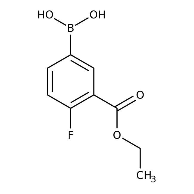 3-Ethoxycarbonyl-4-fluorophenylboronic acid, 95%, ACROS Organics™  3-Ethoxycarbonyl-4-fluorophenylboronic acid, 95%, ACROS Organics™