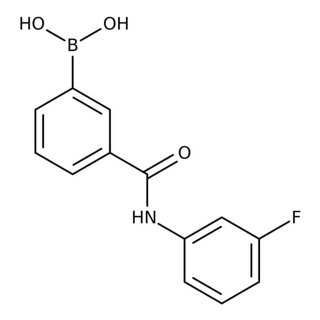 Alfa Aesar™3-(3-Fluorophenylcarbamoyl)benzeneboronic acid, 98% 1g Alfa Aesar™3-(3-Fluorophenylcarbamoyl)benzeneboronic acid, 98%
