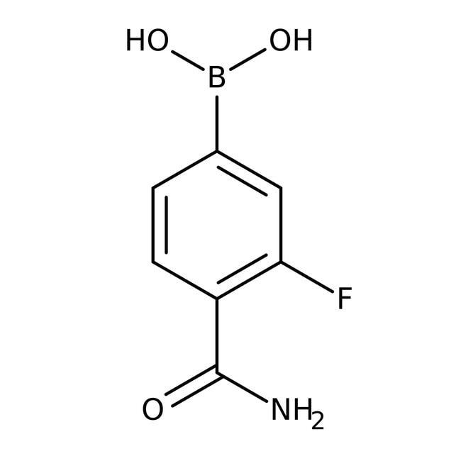 Alfa Aesar™4-Carbamoyl-3-fluorobenzeneboronic acid, 97%