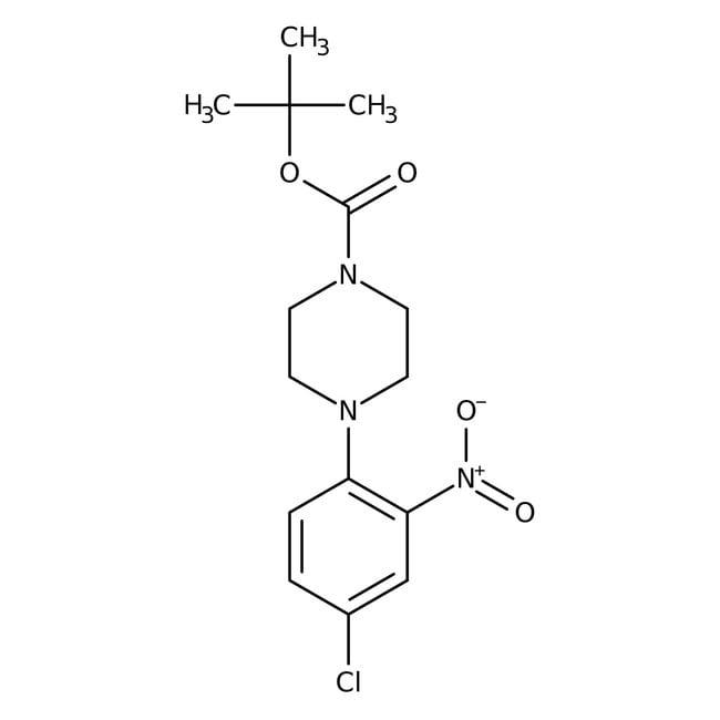 Alfa Aesar™1-Boc-4-(4-chlor-2-nitrophenyl)-piperazin, 97% 250mg Alfa Aesar™1-Boc-4-(4-chlor-2-nitrophenyl)-piperazin, 97%