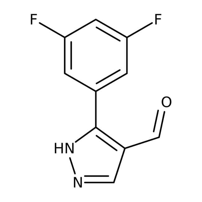 Alfa Aesar™3-(3,5-Difluorophenyl)-1H-pyrazole-4-carboxaldehyde, 98% 250mg Alfa Aesar™3-(3,5-Difluorophenyl)-1H-pyrazole-4-carboxaldehyde, 98%