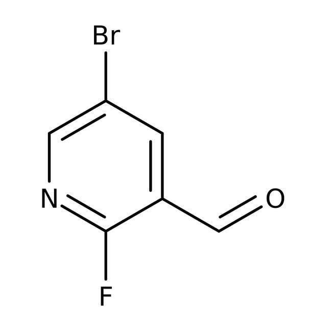 Alfa Aesar™5-Bromo-2-fluoropyridine-3-carboxaldehyde, 95% 250mg Alfa Aesar™5-Bromo-2-fluoropyridine-3-carboxaldehyde, 95%