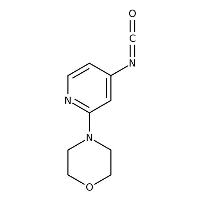 4-(4-Isocyanatopyrid-2-yl)morpholine, ≥90%, Maybridge Amber Glass Bottle; 1g 4-(4-Isocyanatopyrid-2-yl)morpholine, ≥90%, Maybridge