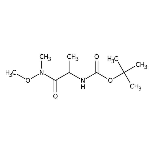 N-(tert-Butoxycarbonyl)-L-alanine N'-methoxy-N'-methylamide, 98%, ACROS Organics