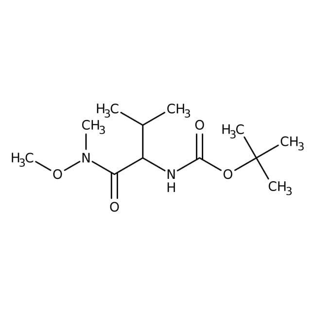 N-(tert-Butoxycarbonyl)-L-valine N'-methoxy-N'-methylamide, 97%, ACROS Organics™