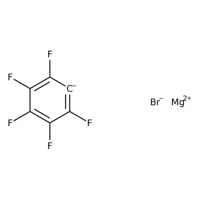 Bomure de pentafluorophénylmagnésium, solution 0,5M dans éther diéthylique, AcroSeal™, Acros Organics 100 ml ; flacon en verre AcroSeal Fluorobenzenes