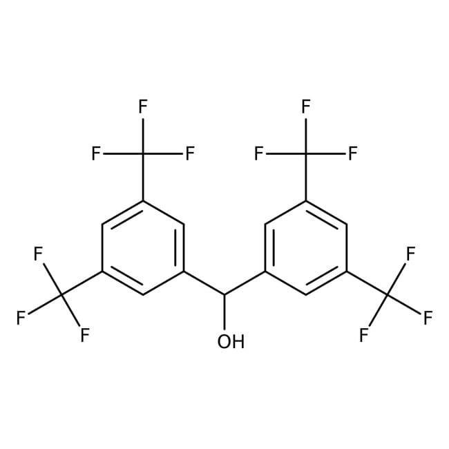 Alfa Aesar™3,3',5,5'-Tetrakis(trifluoromethyl)benzhydrol, 97% 1g Alfa Aesar™3,3',5,5'-Tetrakis(trifluoromethyl)benzhydrol, 97%
