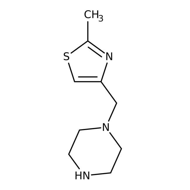 1-[(2-Methyl-4-thiazolyl)methyl]piperazine hydrochloride, Alfa Aesar™ 1g 1-[(2-Methyl-4-thiazolyl)methyl]piperazine hydrochloride, Alfa Aesar™