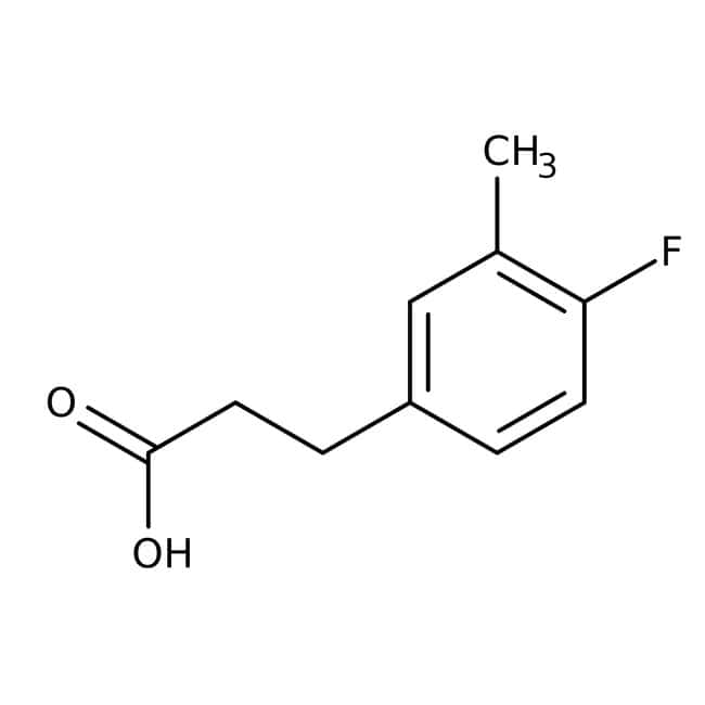 Alfa Aesar™3-(4-Fluoro-3-methylphenyl)propionic acid, 97% 250mg Alfa Aesar™3-(4-Fluoro-3-methylphenyl)propionic acid, 97%