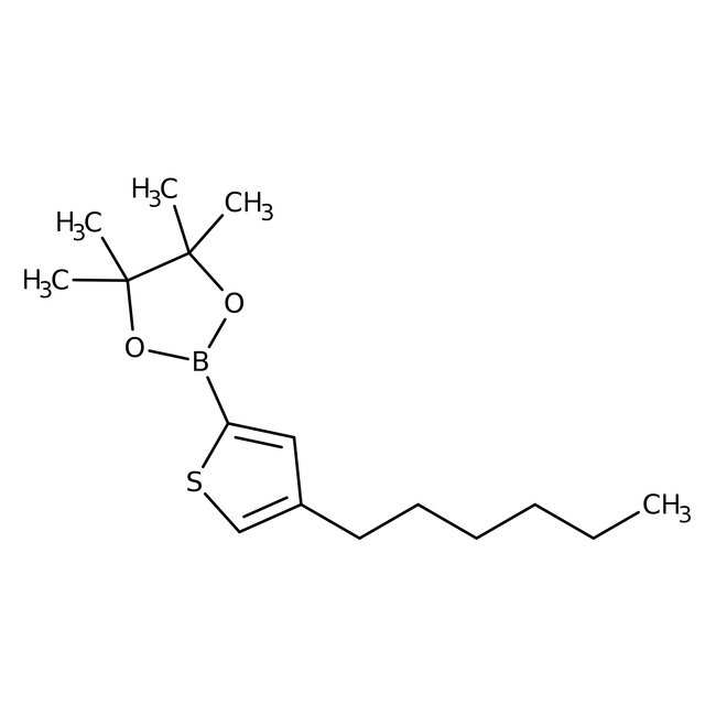 4-Hexyl-2-(4,4,5,5-tetramethyl-1,3,2-dioxaborolan-2-yl)thiophene 98.0+%, TCI America™