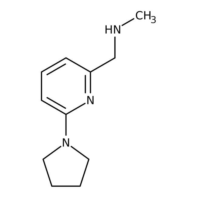 N-Methyl-N-[(6-pyrrolidin-1-ylpyridin-2-yl)methyl]amine, 97%, Maybridge