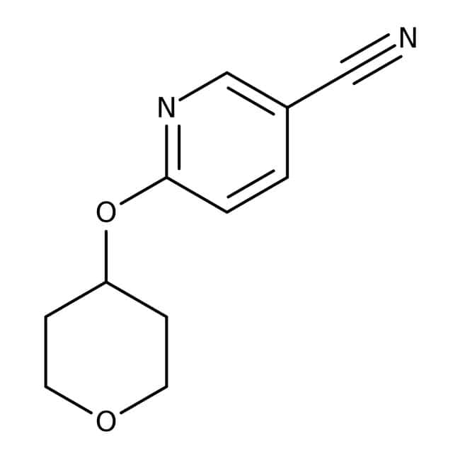 6-(Tetrahydropyran-4-yloxy)nicotinonitrile, 97%, Maybridge
