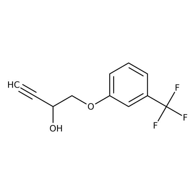 Alfa Aesar™1-(3-Trifluoromethylphenoxy)-3-butyn-2-ol, 98% 25g Alfa Aesar™1-(3-Trifluoromethylphenoxy)-3-butyn-2-ol, 98%