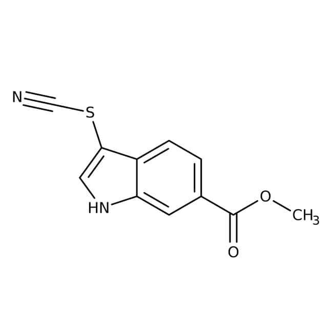 Alfa Aesar™ Methyl 3-thiocyanatoindole-6-carboxylate, 97% 1g Alfa Aesar™ Methyl 3-thiocyanatoindole-6-carboxylate, 97%