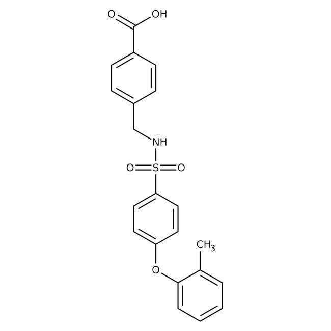 4-[4-(2-Methylphenoxy)phenylsulfonylaminomethyl]benzoic acid, 96%, Alfa Aesar™: Benzene and substituted derivatives Benzenoids