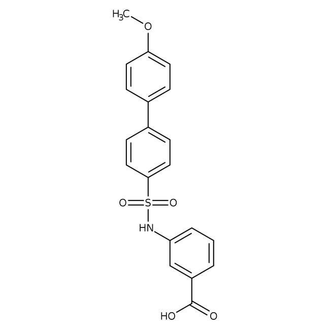 3-[4-(4-Methoxyphenyl)phenylsulfonamido]benzoic acid, Alfa Aesar™ 250mg 3-[4-(4-Methoxyphenyl)phenylsulfonamido]benzoic acid, Alfa Aesar™