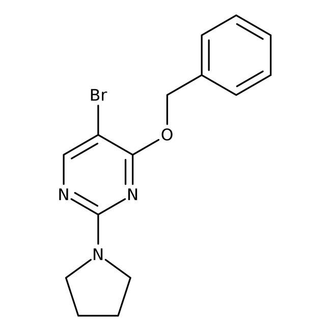 Alfa Aesar™4-Benzyloxy-5-bromo-2-(1-pyrrolidinyl)pyrimidine, 95% 1g Alfa Aesar™4-Benzyloxy-5-bromo-2-(1-pyrrolidinyl)pyrimidine, 95%