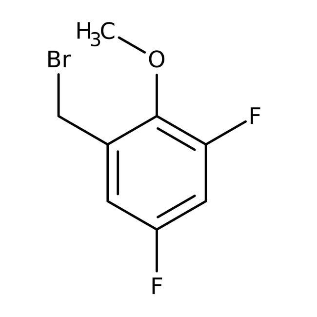 Alfa Aesar™3,5-Difluoro-2-methoxybenzyl bromide, 97% 1g Alfa Aesar™3,5-Difluoro-2-methoxybenzyl bromide, 97%