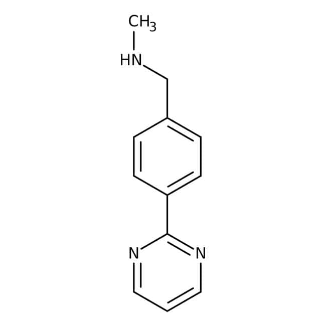 N-Methyl-4-pyrimidin-2-ylbenzylamine, 90%, Maybridge™ Amber Glass Bottle; 1g N-Methyl-4-pyrimidin-2-ylbenzylamine, 90%, Maybridge™