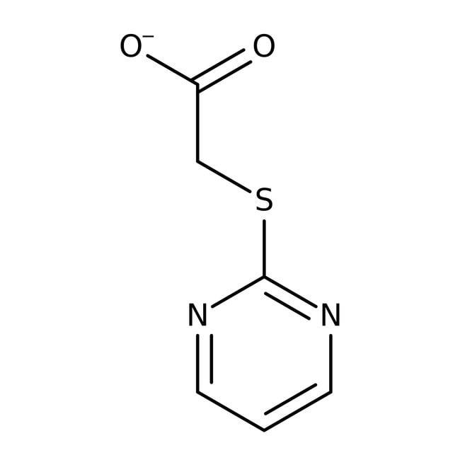 (2-Pyrimidylthio)acetic acid, 98%, ACROS Organics™ 25g; Plastic bottle (2-Pyrimidylthio)acetic acid, 98%, ACROS Organics™