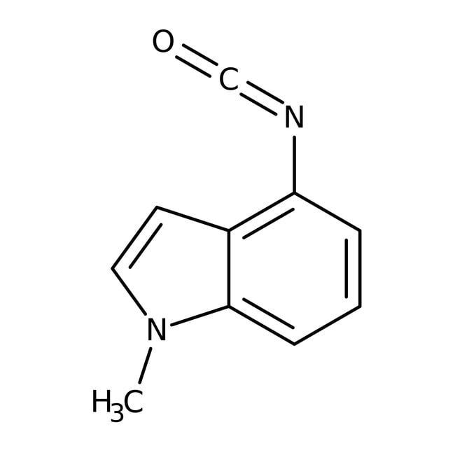 4-Isocyanato-1-methyl-1H-indole, 97%, Maybridge™ 250mg 4-Isocyanato-1-methyl-1H-indole, 97%, Maybridge™