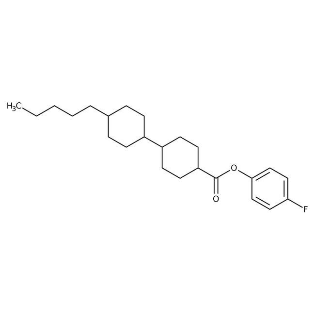 Alfa Aesar™4-Fluorophenyl trans,trans-4'-n-pentylbicyclohexyl-4-carboxylate, 97%