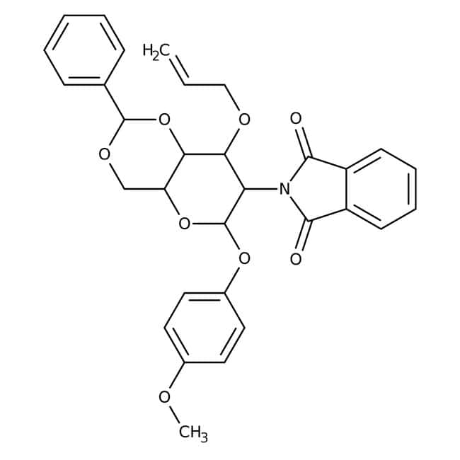 4-Methoxyphenyl 3-O-Allyl-4,6-O-benzylidene-2-deoxy-2-phthalimido-beta-D-glucopyranoside 97.0+%, TCI America™